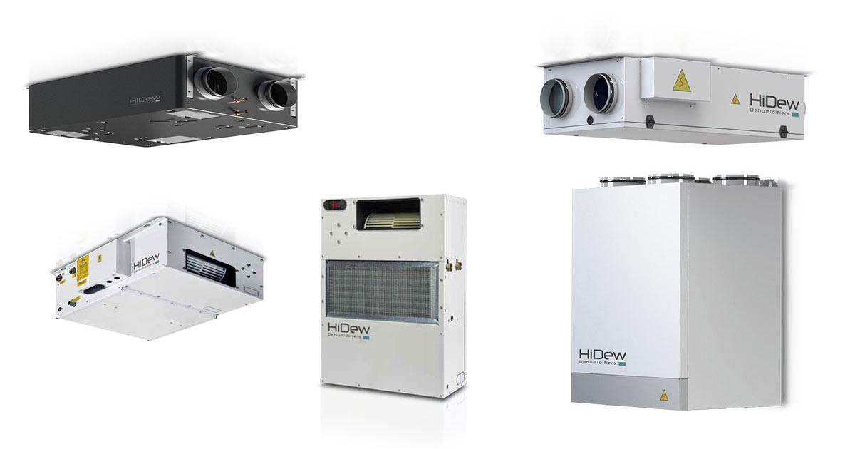 Gamma deumidificatori e ventilazione meccanica