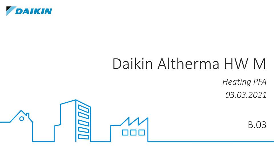 Scaldacqua Altherma M HW Daikin | Nuova gamma di scaldacqua in pompa di calore monoblocco di seconda Generazione: Altherma M HW.